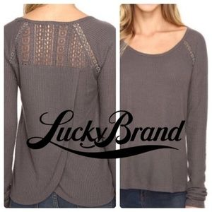 Lucky Brand Crossed Back Long Sleeve